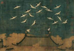Possibly Emperor Huizong, Auspicious Cranes, about 112/ Photo Credits: The Liaoning Provincial Museum Collection