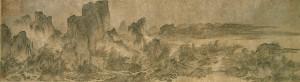 "Yan Wengui, ""Landscape with Pavilions"" , 10th century/ Photo Credits: Osaka City Museum of Fine Arts"