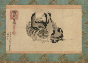 """Attributed to Shi Ke, """"Two Chan Patriarchs Harmonising Their Minds"""", 13th century, Tokyo National Museum, Japan/ Photo Credits: TNM Image Archives"""