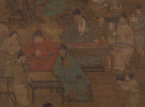 """Attributed to Ren Renfa, """"Four Pleasures Music Chess Calligraphy and Painting"""", 1500, Tokyo National Museum, Japan/ Photo Credits: TMN Image Archives"""