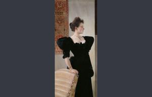 """Portrait of a Lady in Black"", de Gustav Klimt/ Photo Credits: Belvedere, Viena"