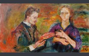"""""""Portrait of Hans and Erica Tietze-Conrat"""", de Oskar Kokoschka/ Photo Credits: The Museum of Modern Art, New York"""