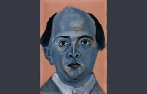 """""""Blue Self Portrait"""", de Arnold Schönberg/ Photo Credits: Arnold Schönberg Center, Viena"""