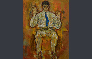 """Portrait of Albert Paris von Gütersloh"", de Egon Schiele/ Photo Credits: The Minneapolis Institute of Arts, Minnesota"