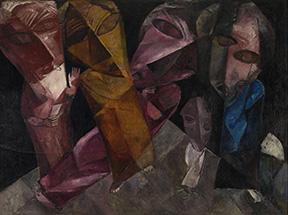 """La muestra es fiel reflejo de la programada por Goebles en 1937/ Photo Credits: Lasar Segall, """"Eternal Wanderers"""", 1919, Lasar Segall Museum/ Fotografía de Jorge Bastos"""