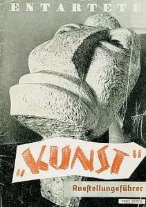 Cartel original de la exposición de Arte degenerado de 1937