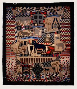 El Arte folclórico que protagoniza el recorrido estuvo muy presente en los tapices y bordados
