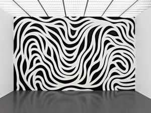 Sol LeWitt desarrolló a través de las Wall Drawings Series su idea de oposición entre la obra y el material