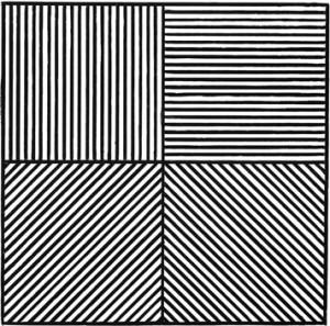 Las figuras de Sol LeWitt varían desde formas simples como los cubos