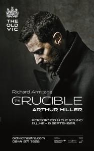"Richard Armitage da vida al personaje que Daniel Day-Lewis encarnó en la película ""El crisol""/ Photo Credits: The Old Vic Theatre"