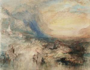 """Goldau, with the Lake of Zug in the Distance: Sample Study"", elaborado por Joseph Mallord William Turner entre 1842-1843/ Photo Credits: tate.org.uk"