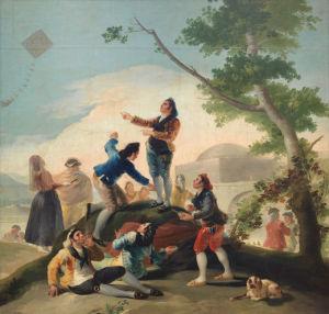 """Goya llegó a la capital en 1775/ Photo Credits: """"La cometa"""", Museo del Prado"""