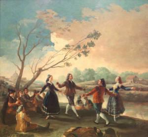 """Goya cambió su estilo coincidiendo con la aparición de su enfermedad/ Photo Credits: """"Baile a orillas del Manzanares"""", Museo del Prado"""