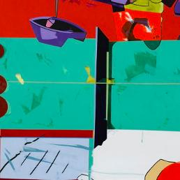 """Hervé Télémaque nutrió su obra con la aglutinación de varios movimientos/ Photo Credits: """"Fonds d'actualité"""", de Hervé Télémaque/ Philippe Migeat/ Agencia RMN/ Adagp, París"""