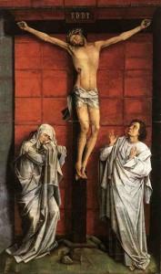 """""""El Calvario"""", de Rogier van der Weyden, es el motor principal de la muestra del Prado, ya que se ve por primera vez tras su complicada restauración"""