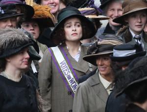 Helena Bonham Carter participa en el filme en la piel de la sufragista Edith New