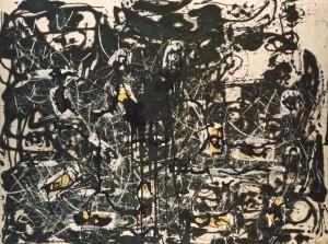 Jackson Pollock elaboró un método peculiar de trabajo mediante el cual el lienzo se expresaba con total libertad/ Photo Credits: Yellow Islands, 1952