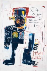"""Jean-Michel Basquiat hizo de las reivindicaciones sociales un leitmotiv de su trabajo/ Photo Credits: """"La ironía de un policía negro"""""""
