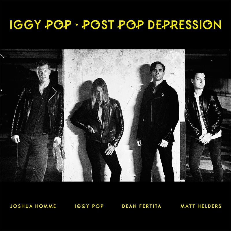 Iggy Pop (segundo por la izquierda) ha compuesto nueve temas de ritmo tenso
