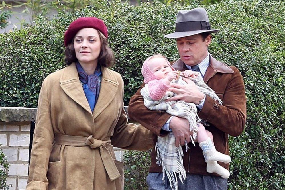 """Brad Pitt y Marion Cotillard en Londres, un momento del rodaje de """"Allied"""""""