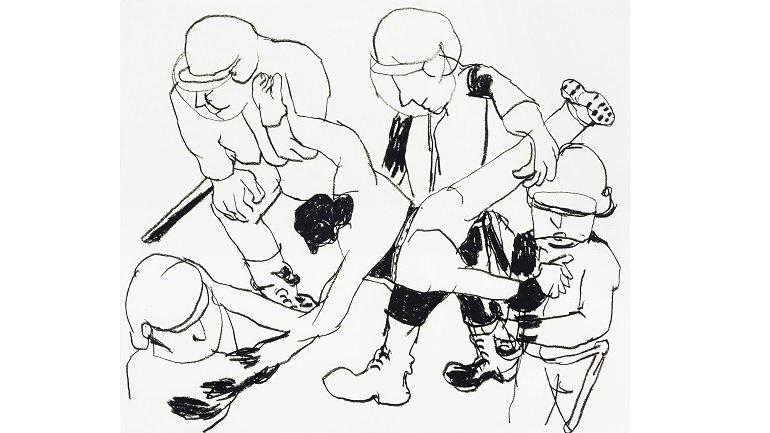 Anne-Marie Schneider es capaz de remover conciencias con unas simples líneas o esbozos