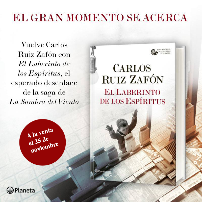 Carlos Ruiz Zafón concluye con los Sempere - THE LIVING CULTURE MAGAZINE