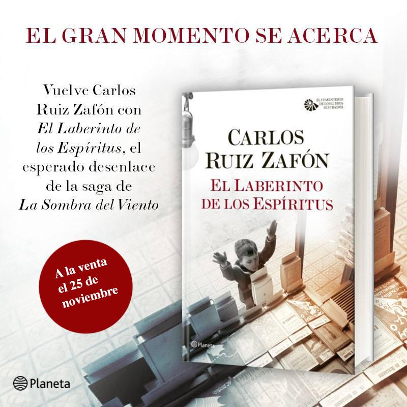 Carlos Ruiz Zafón ha levantado un gran revuelo mediático con la cuarta entrega de su exitosa saga literaria