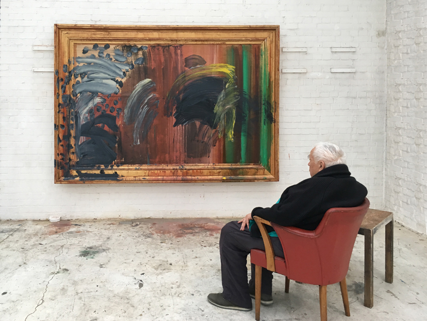 "Howard Hodgkin se mantuvo en activo hasta su muerte/ Foto: Miriam Pérez, ""Portrait of the Artist Listening to Music"", Courtesy Gagosian"