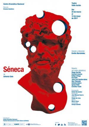 Séneca estará en el Teatro Valle-Inclán del 24 de marzo al 14 de mayo/ Cartel de ByG e Isidrio Ferrer