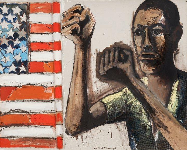 """El black power desbocó una corriente altamente reivindicativa y crítica con la política racial de USA/ Foto: """"Did the Bear Sit Under"""", de Benny Andrews, 1969, Emanuel Collection, Estate of Benny Andrews, DACS/ London/ VAGA/ NY"""