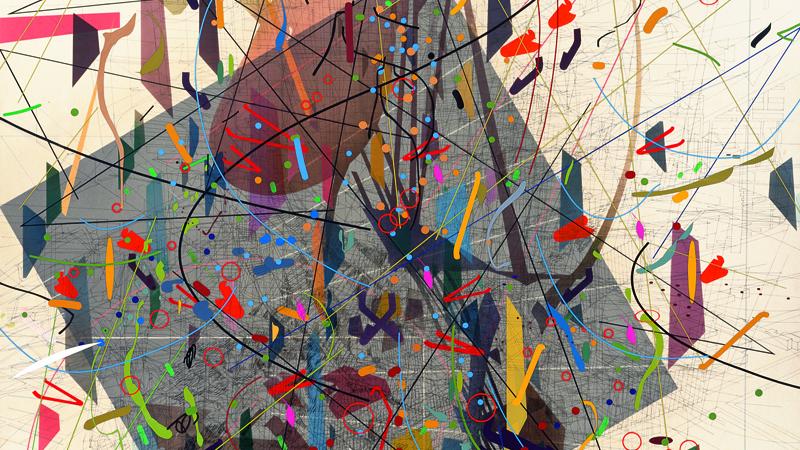 Julie Mehretu ha evolucionado a través de expresioniones artísticas no exentas de tradicionalismo/ Foto: Zero Canyon (a dissimulation), 2006/ Julie Mehretu y Centro Botín